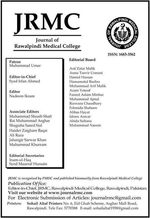 JRMC::   Journal of Rawalpindi Medical College