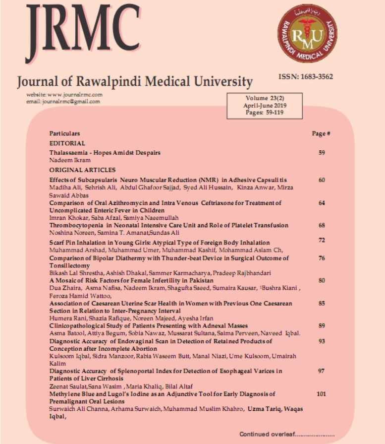 Clinicopathological Study of Patients Presenting with